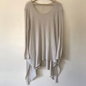 Free people thermal tunic with asymmetrical hem